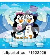 Poster, Art Print Of Penguin Wedding Couple
