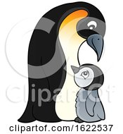 Emperor Penguin And Chick by visekart