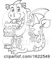 Dragon Holding A Birthday Cake