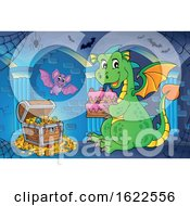 Dragon Holding A Birthday Cake