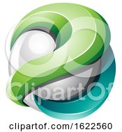 Poster, Art Print Of Green And Turquoise Sphere
