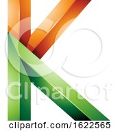 Green And Orange 3d Geometric Letter K