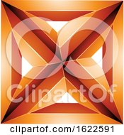 Orange 3d Square With Triangles by cidepix