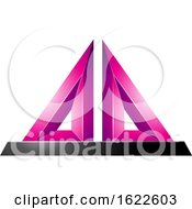 Magenta 3d Pyramid
