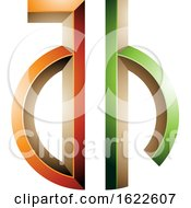 Green And Orange Key Like Letters A And H
