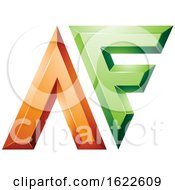 Orange And Green Dual Letters A And F