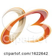 Orange And Beige Curvy Letters A And B