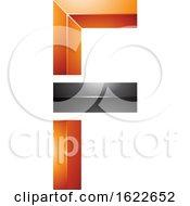 Orange And Black Letter F