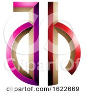 Magenta And Red Key Like Letters A And H