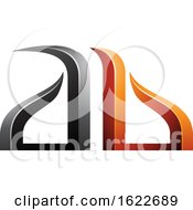 Orange And Black Bow Like Letters A And B