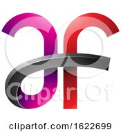 Magenta And Red Curvy Letters A And F