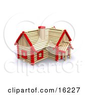 Matchstick Home With Red Tips Symbolizing A Stick Built House Foreclosure And Insurance Clipart Illustration Image