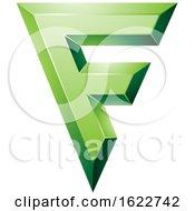 Green Geometric Letter F