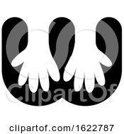 Poster, Art Print Of Gloves Or Hands In Letter W