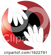 Poster, Art Print Of Gloves Or Hands Over Red And Black