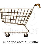 Brown Shopping Cart