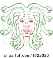 Medusa Head Neon Style
