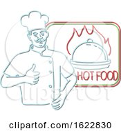 Chef Thumbs Up Hot Food Neon Sign