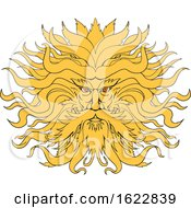 Helios Greek God Of Sun Head Drawing Color