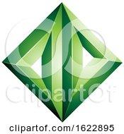 Green Diamond Of Triangles