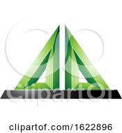 Green And Black 3d Pyramid