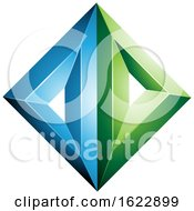 Blue And Green Diamond Of Triangles