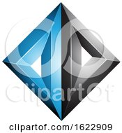 Black And Blue Diamond Of Triangles