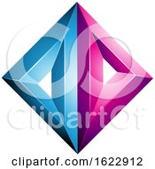 Blue And Magenta Diamond Of Triangles