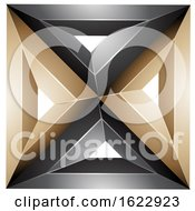 Beige Or Gold And Black Square by cidepix