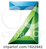 Blue And Green 3d Geometric Letter A