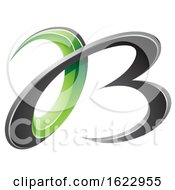 Green And Black 3d Curly Letters A And B
