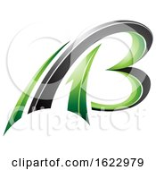 Green And Black Flying 3d Letters A And B
