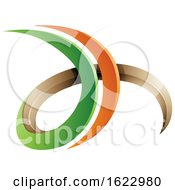 Green And Orange 3d Curly Letters D And H
