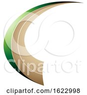 Green And Beige Flying Letter C