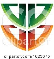 Green And Orange Shield Like Letter B