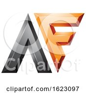 Black And Orange Dual Letters A And F