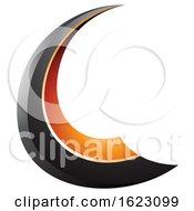 Black And Orange Flying Letter C
