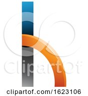 Black Blue And Orange Letter H With A Quarter Circle