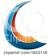 Blue And Orange Flying Letter C