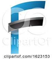 Blue And Black Letter F