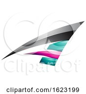 Black Turquoise And Magenta Flying Letter A