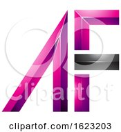 Black And Magenta Letters A And F