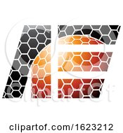 Orange And Black Honeycomb Patter Letters A And E