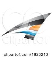Black Blue And Orange Flying Letter A