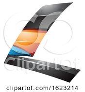 Black Blue And Orange Flying Letter L
