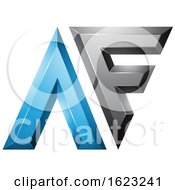 Black And Blue Dual Letters A And F