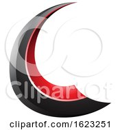 Black And Red Flying Letter C
