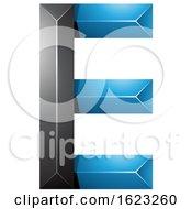 Blue And Black Letter E