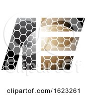Brown And Black Honeycomb Patter Letters A And E