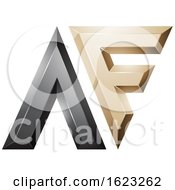 Black And Beige Dual Letters A And F